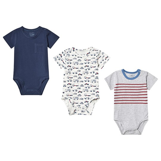Hust&Claire 3-Pack Bruno Baby Bodies Blue Blue moon