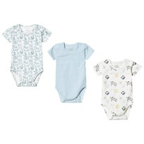 37b605b51d8 Hust&Claire 3-Pack Bati Baby Bodies Blue Ever blue