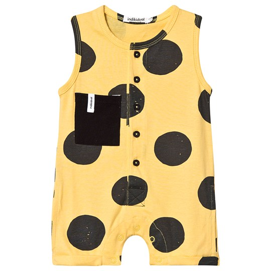 Indikidual Spotted Sleeveless Romper Yellow/Black KONNICHIWA