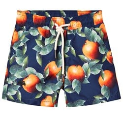 OAS Orange Swim Shorts Navy