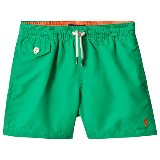Ralph Lauren Green Swim Shorts with Small PP 002