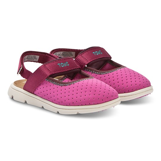 Toms Perforated Tiny TOMS Caity Sandals Rose Violet Pink