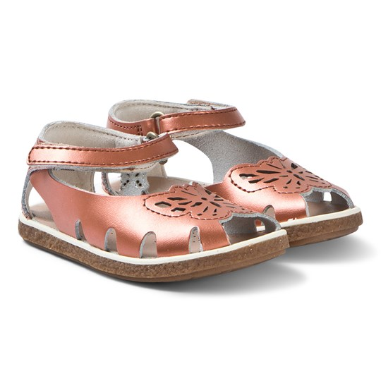 Camper Copper Leather Butterfly Sandals 003