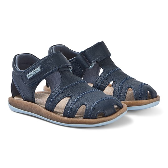 Camper Navy Bicho Leather Closed Toe Sandals 050