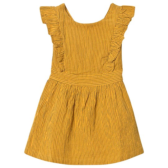 Cyrillus Frill Detail Dress Yellow Safran