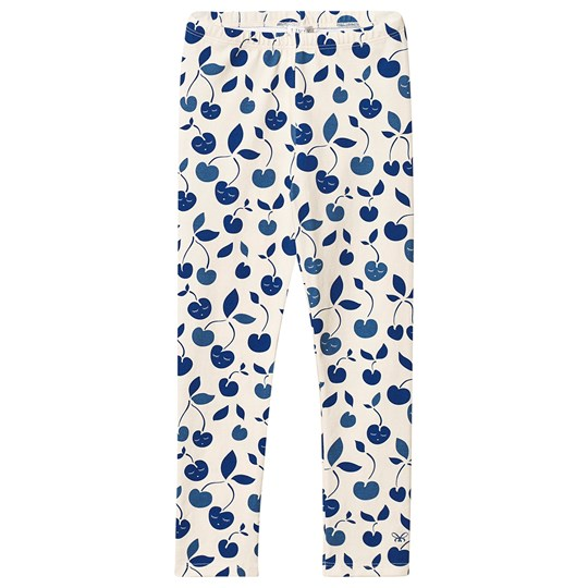 Livly Cherry Essential Leggings Gräddvit cream / blue cherry