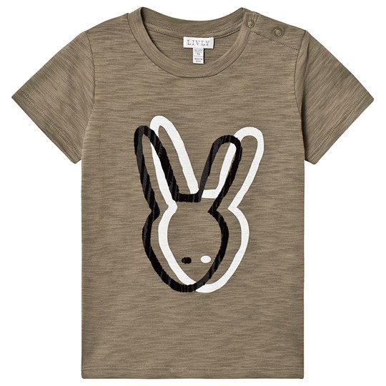 Livly Big Brother T-shirt Forest Green forest bunny