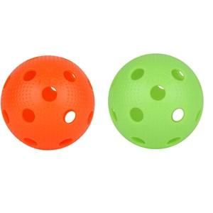 Image of STIGA Dimples Floorballs 2-Pack Green and Orange 3 - 18 years (1339676)