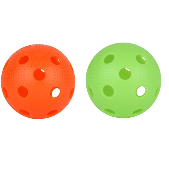 STIGA Dimples Floorballs 2-Pack Green and Orange