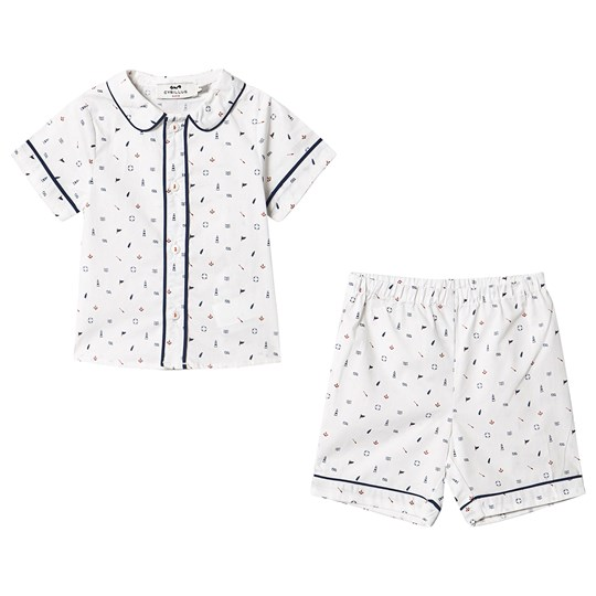 Cyrillus Printed Sailor Clothing Set White PrintedSailor