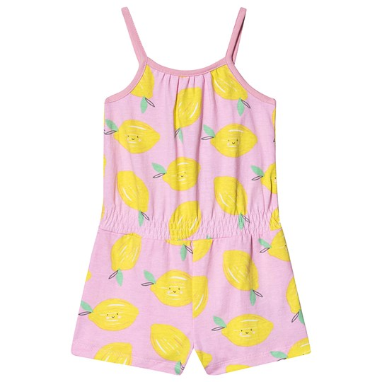 Gap Lemon Romper Pink Lemon Print