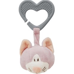 Teddykompaniet Diinglisar Teether and Pram Toy Cat Pink