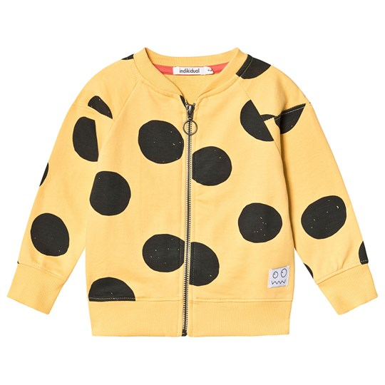Indikidual Spot Zip Sweater Yellow RAKE