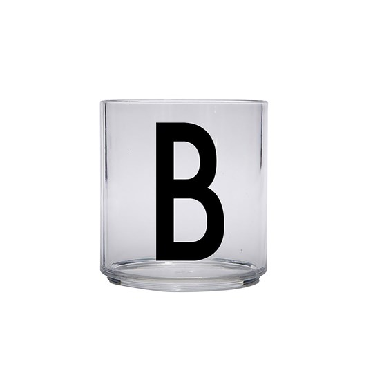 Design Letters Personal Drinking Glass - B Black