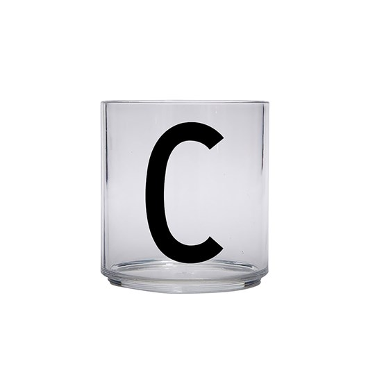 Design Letters Personal Drinking Glass - C Black