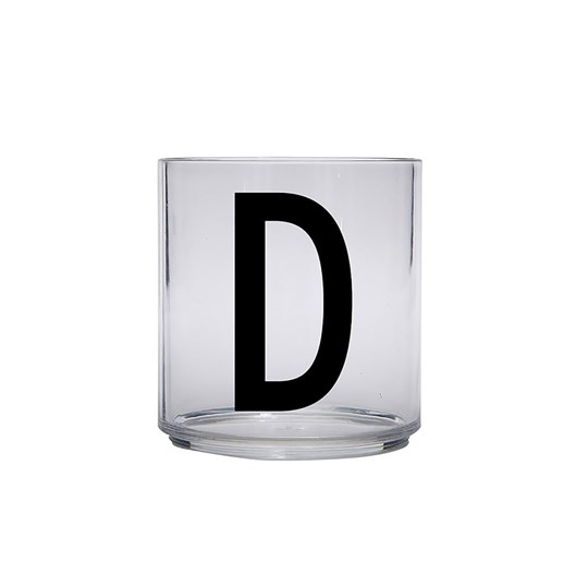 Design Letters Personal Drinking Glass - D Black