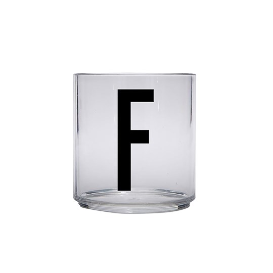 Design Letters Personal Drinking Glass - F Black