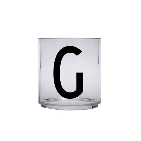 Design Letters Personal Drinking Glass - G Black