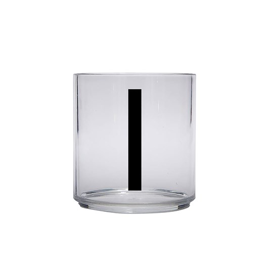 Design Letters Personal Drinking Glass - I Black