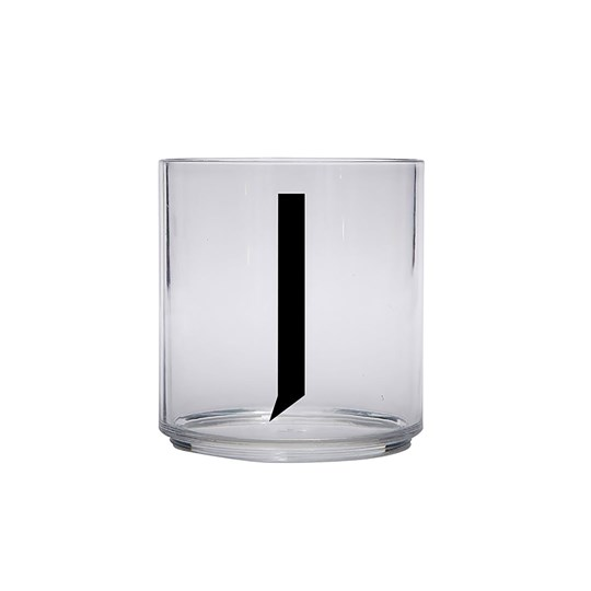 Design Letters Personal Drinking Glass - J Black