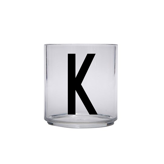 Design Letters Personal Drinking Glass - K Black