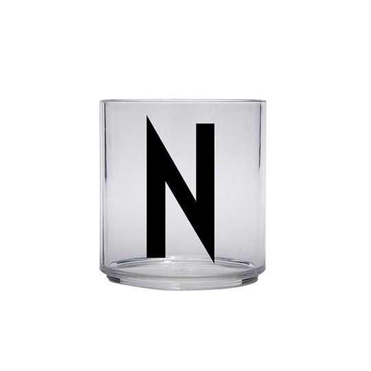 Design Letters Personal Drinking Glass - N Black