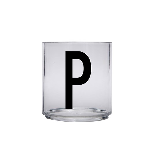 Design Letters Personal Drinking Glass - P Black