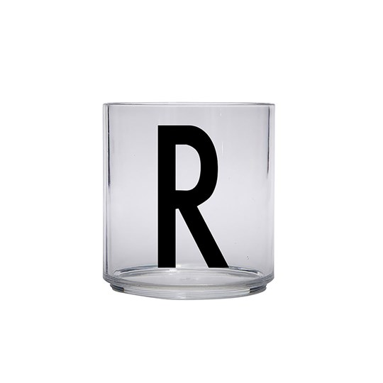 Design Letters Personal Drinking Glass - R Black