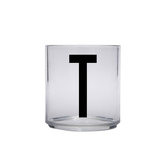 Design Letters Personal Drinking Glass - T Black