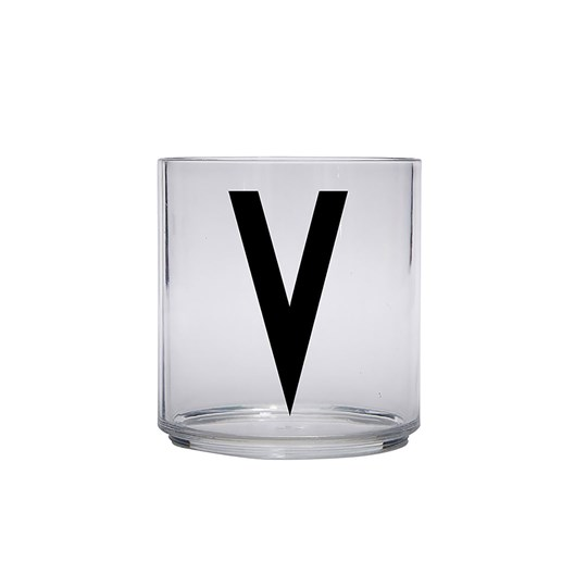 Design Letters Personal Drinking Glass - V Black