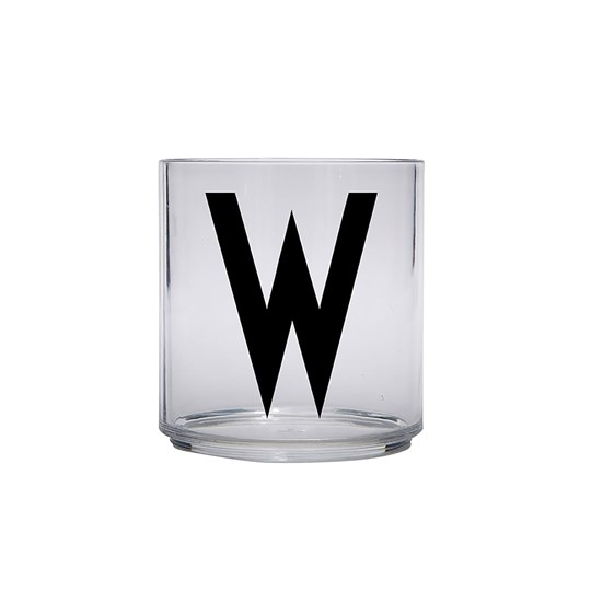Design Letters Personal Drinking Glass - W Black