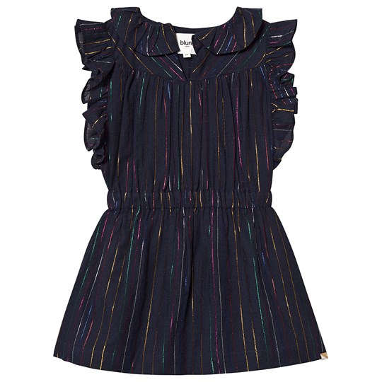 Blune Dancing Queen Dress Marineblå NAVY/MULTICOLORE