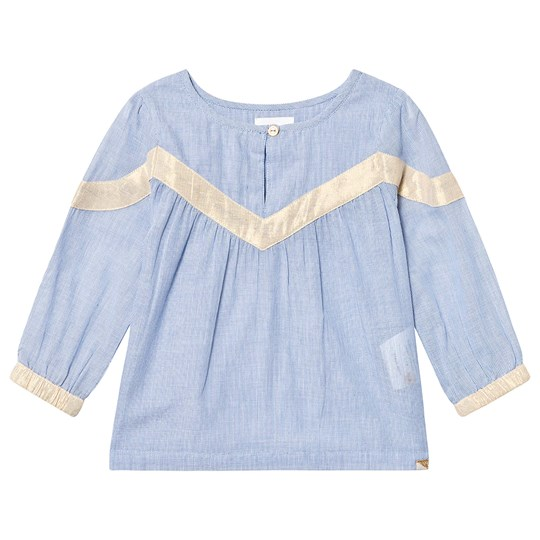 Blune On Tour Blouse Chambray/Gold CHAMBRAY/GOLD