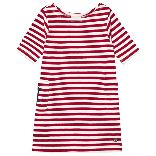 Emma och Malena Nova Dress Stripe Linen Blend Raspberry Stripe