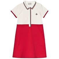 49325470 Moncler White and Red Pique Polo Dress 034