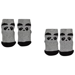 Liewood 2-Pack Nellie Anti-Slip Socks Panda/Grey Melange