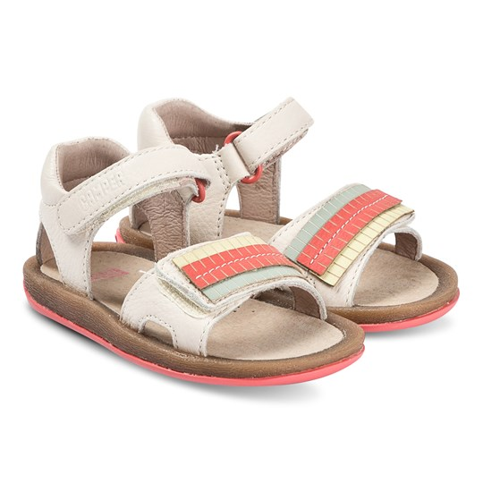Camper Cream Fringe Leather Twins Sandals 002