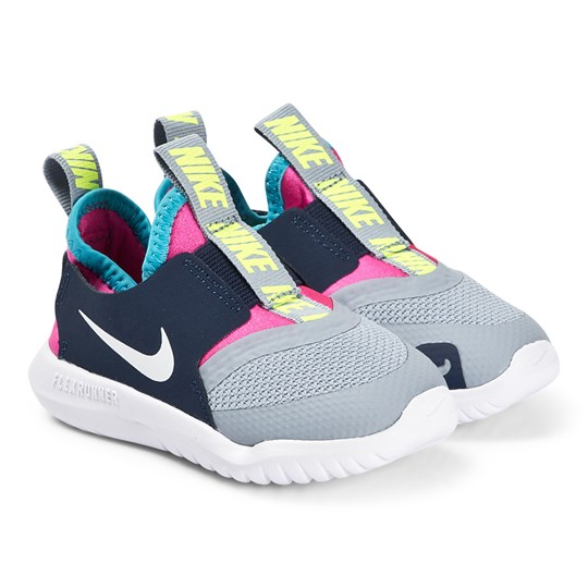 bas prix ab893 1b402 NIKE - Grey and Pink Nike Flex Runner Trainers - Babyshop.com