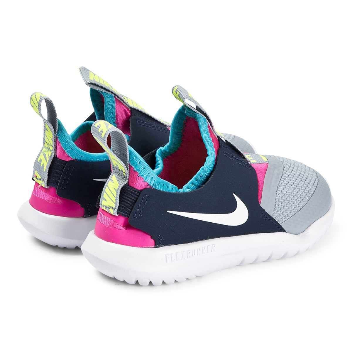 Grey and Pink Nike Flex Runner Trainers