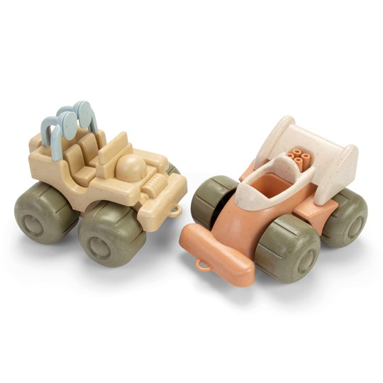 Dantoy BIOplastic Toy Vehicles Jeep and Formula 1 Car Green