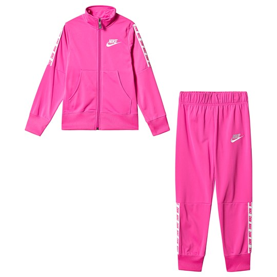 NIKE Pink Tricot Branded Tracksuit 686