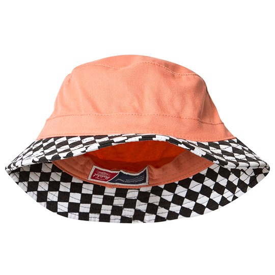 Herschel Lake Youth Bucket Hat Fresh Salmon Fresh Salmon Checkerboard