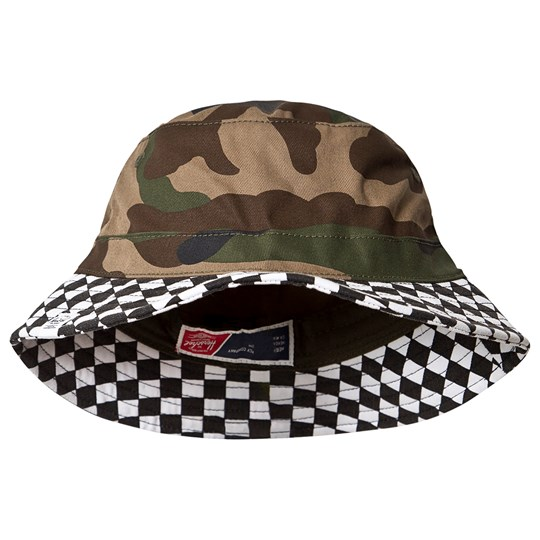 Herschel Lake Youth Bucket Hat Woodland Camo Woodland Camo Checkerboard