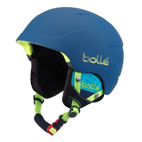 Bollé Blue & Lime B-Lieve Ski Helmet Soft Blue Spray