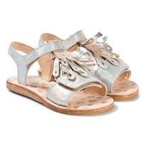 299b51a0d0fc2 Easy Peasy Silver Metallic Frill Like Leather Sandals 81