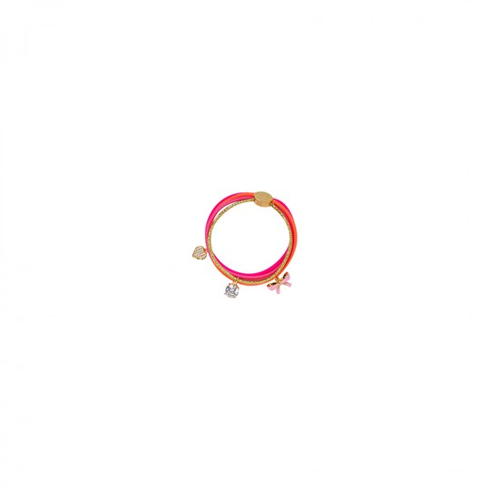 Bjällra of Sweden Bracelet with Pendants Multicolor Pink, Gold, Orange