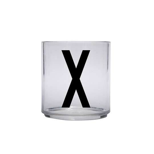 Design Letters Personal Drinking Glass - X Black