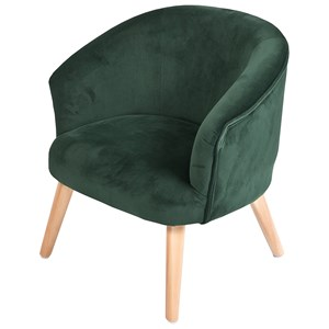 Image of JOX Armchair Velvet Green One Size (1390139)
