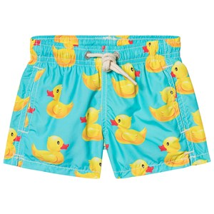 Image of MC2 Saint Barth Ducky Graphic Lightweight Badeshorts Blå 1 year (1348177)