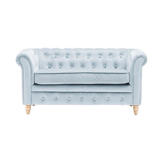 Chesterfield Sofa Velvet Light Blue